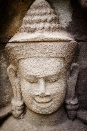 handscraft: stone carving in the Thai temple,public place