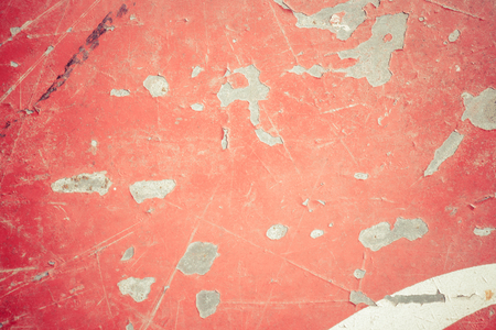 Peeling paint on a metal surface