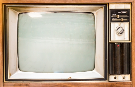 Old vintage TV Stock Photo