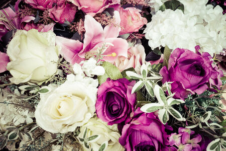 beautiful of artificial flowers Stock Photo