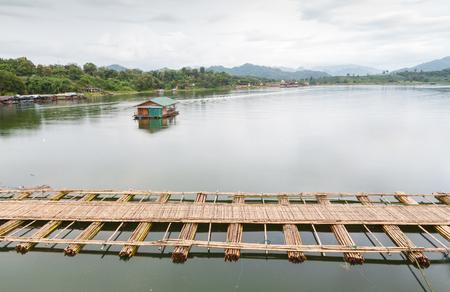 raft house in Sangkhlaburi photo