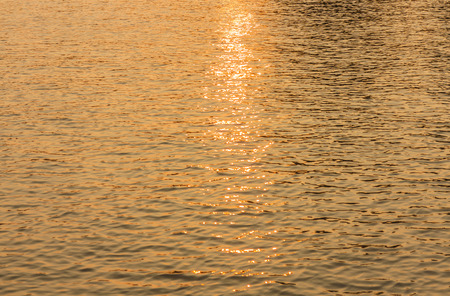 wavelet: surface water in the sunset time