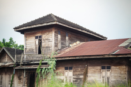 abandoned old house in Thailand photo