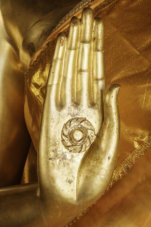 thai buddha: Hand of Buddha statue Stock Photo
