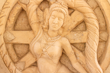 Antique sculpture of clay