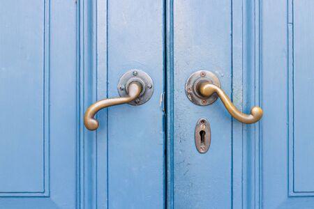blue door: classic blue door