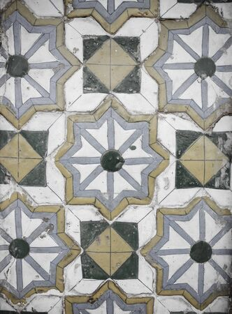 ceramica: Azulejo de cerámica vintage Foto de archivo