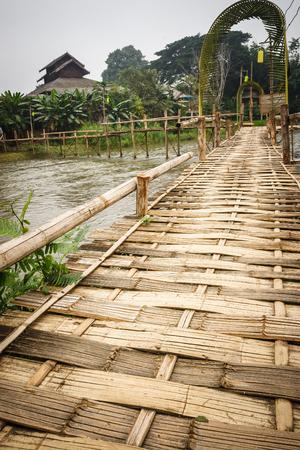 elevated walkway: Bamboo bridge