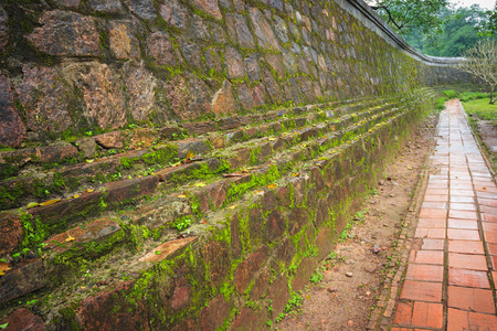 Ancient wall in Vietnam