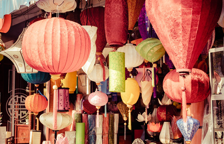 Beautiful vietnamese lanterns
