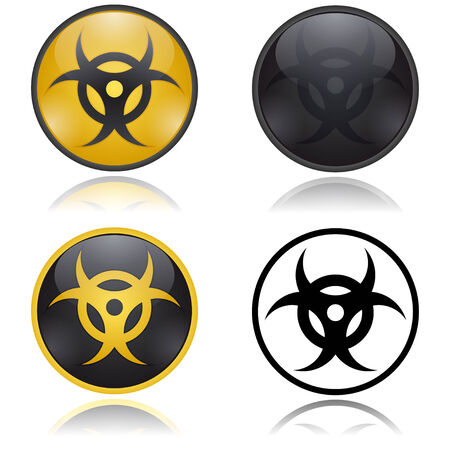Biohazard warning signs Vector