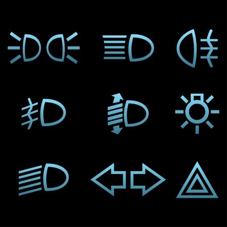 dimmer: Car interface symbols