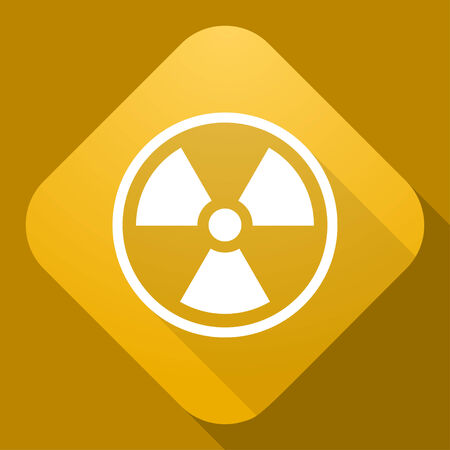 radiation sign: Vector icon of Radiation Sign with a long shadow