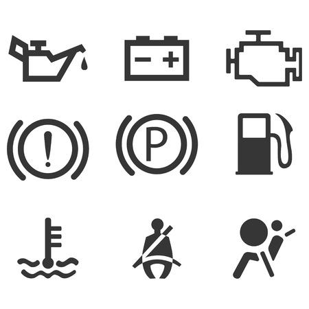 airbag: Car interface symbols