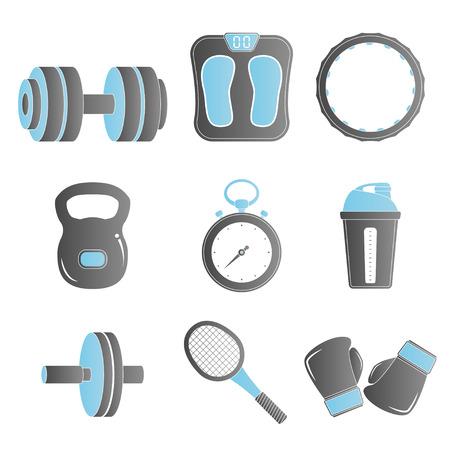 Fitness-Icon-Set Standard-Bild - 27160160