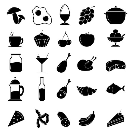 Food icon set Stock Illustratie