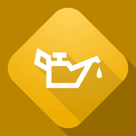lubricator: Vector icon of Lubricator with a long shadow