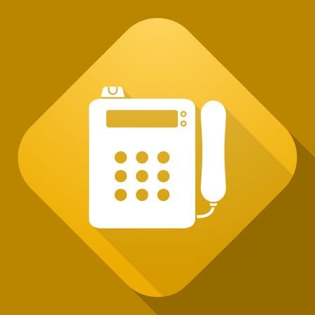 payphone: Vector icon of Payphone with a long shadow