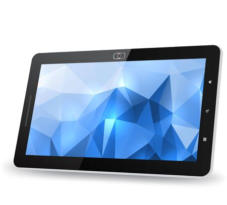 Tablet PC with abstract background Vector