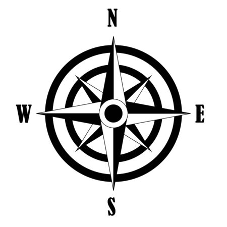 Vector icon of Compass rose