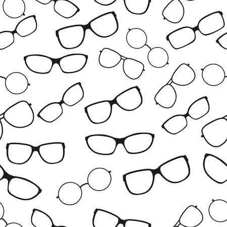 ilhouette: Vector illustration. Seamless pattern with glasses
