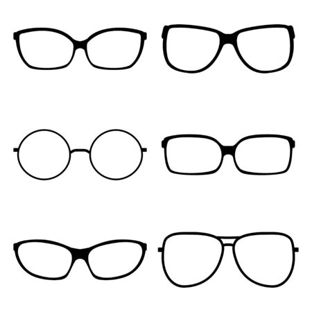 ilhouette: Vector illustration of sunglasses icons Illustration