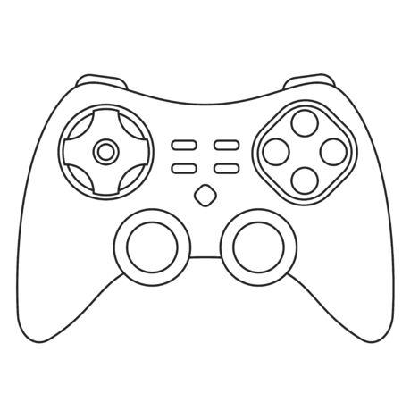 Vector illustration. Icon of Joystick Illustration