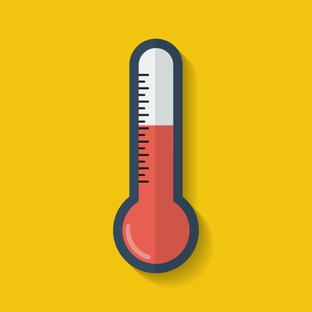 Thermometer icon. Flat style