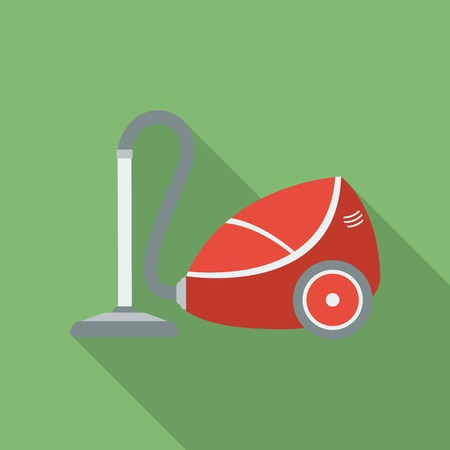 Vacuum Cleaner icon. Modern Flat style with a long shadow