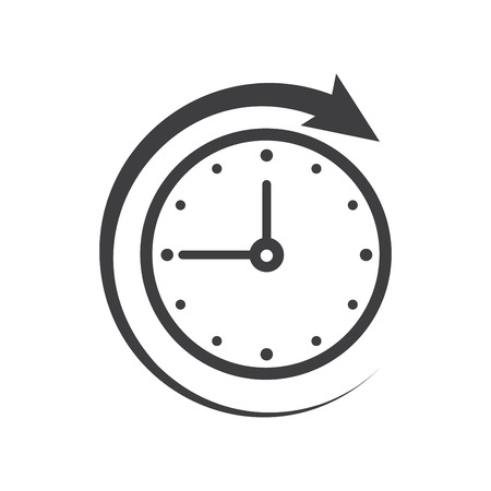 time clock: Icon of symbol, sign Open around the clock or 24 hours a day