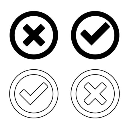 voted: Set of check mark icons Illustration
