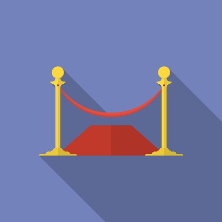 rope barrier: Icon of Rope Barrier. Flat style