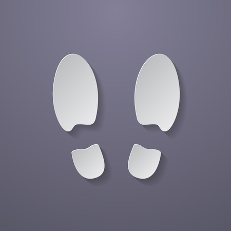 Shoe prints or Footprint icon.