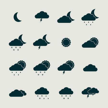 blizzards: Weather icon set. Illustration