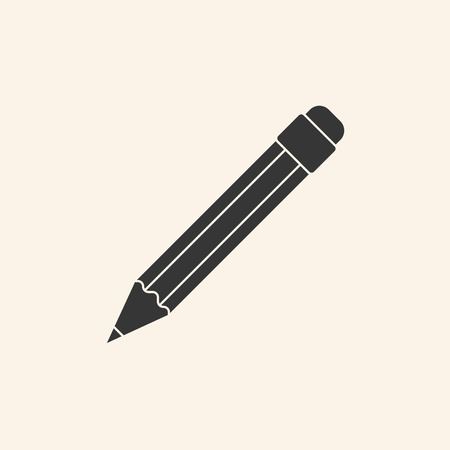 Icon of pencil vector illustration. Stock Illustratie