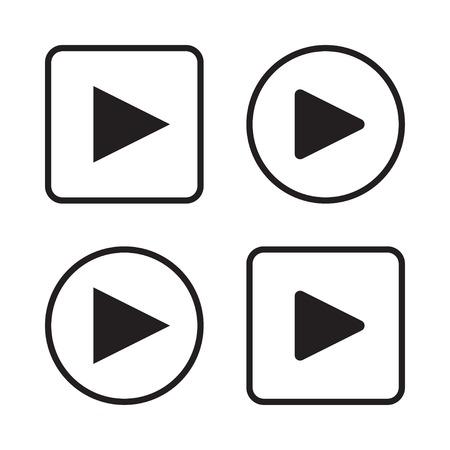 Set van de play-knop pictogrammen vector illustratie eps 10 Stockfoto - 35806846