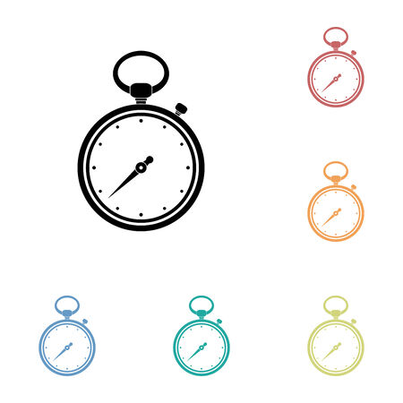 small group of objects: Icon of Stopwatch.  vector illustration.