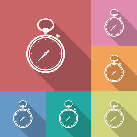 small group of objects: Icon of Stopwatch. Flat style vector illustration.