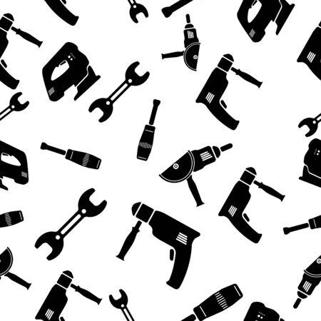 Naadloos patroon van gereedschap vector illustratie. Vector Illustratie