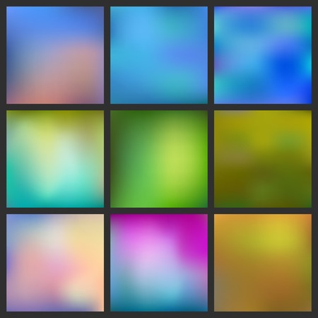 Set of Abstract colorful blurred background. Can use for website or presentation. Vector