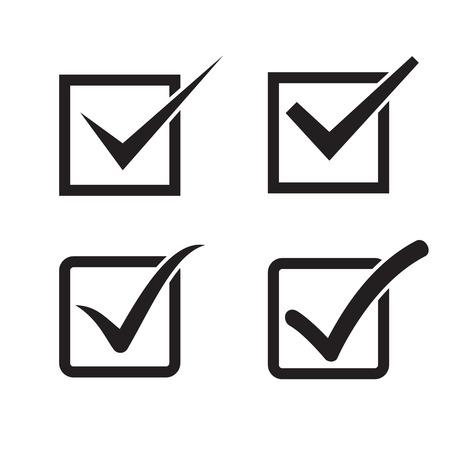 Zestaw znacznik wyboru, zaznacz pole ikony