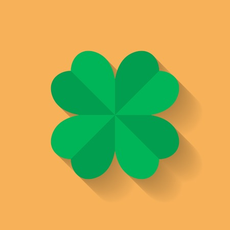 clover icon: Four leaf clover icon. Flat style