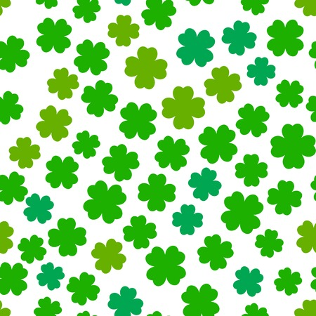 4 leaf: Four leaf clover seamless pattern