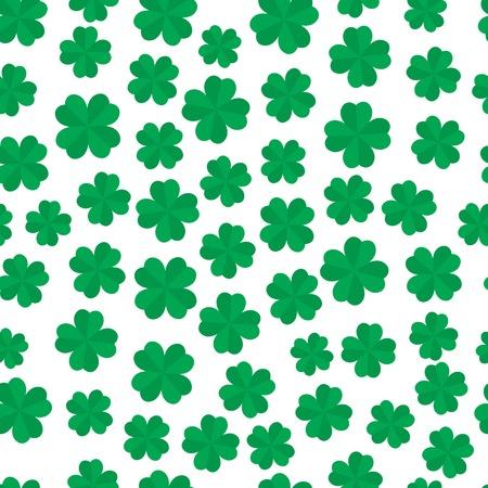 four leaf: Four leaf clover seamless pattern