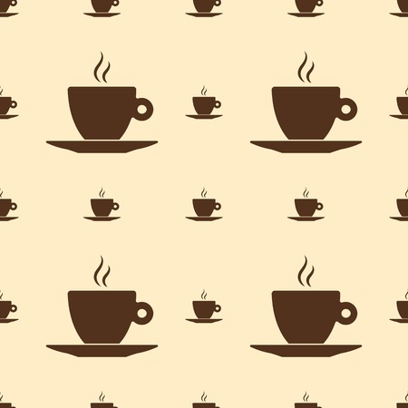 coffee cup vector: Seamless pattern with coffee cup