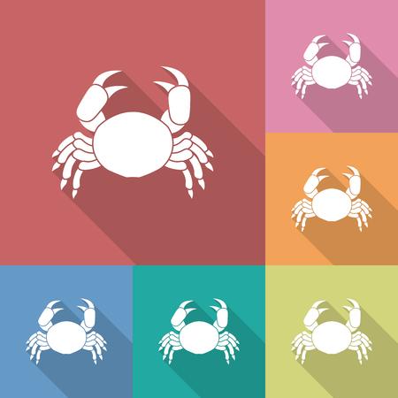 crab legs: Icon of crab