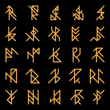 runes: Set of abstract ancient runes