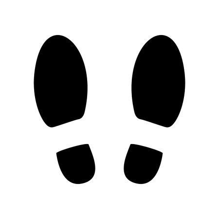 foot print: Shoe prints or Footprint icon.