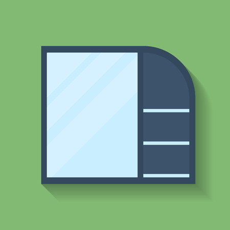 Icon of Cabinet. Flat style Vector