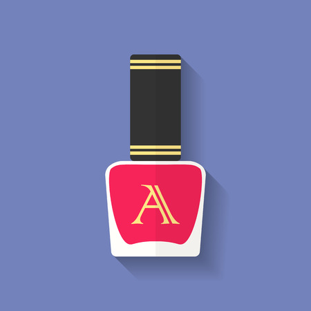 nailpolish: Nail polish, nail varnish icon. Flat style